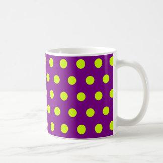 Gele Stippen Koffiemok
