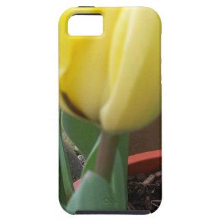 Gele tulp tough iPhone 5 hoesje