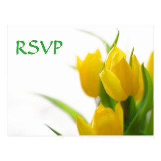 Gele Tulpen - Briefkaart RSVP