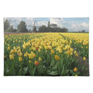 Gele Tulpen op een Gebied Holland Placemat