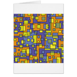 Gele vierkantenachtergrond kaart