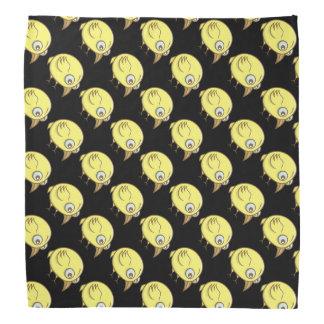 Gele vogelcartoon bandana
