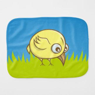 Gele vogelcartoon monddoekje