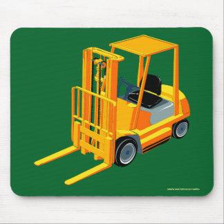 Gele Vorkheftruck, de Vrachtwagen van de Pallet Muismat