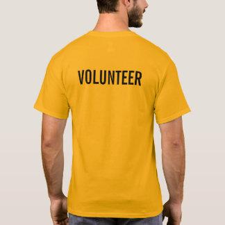 Gele Vrijwilliger T Shirt