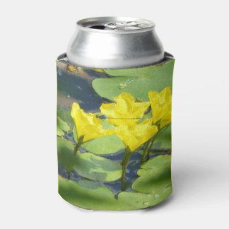 Gele Waterlelies met libelKoelbox Blikjeskoeler