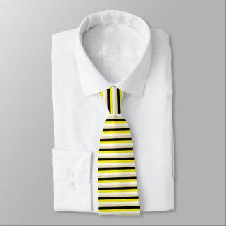 Gele, Witte, Beige en Zwarte Strepen Custom Stropdassen
