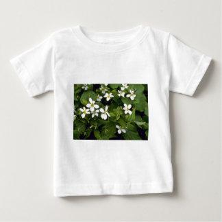 Gele Witte Violette (Altviool Canadensis) bloemen Baby T Shirts