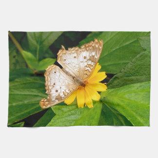 gele witte vlindermot keukenhanddoeken
