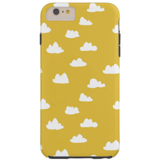 Gele wolken/Neutrale Mosterd/Andrea Lauren Tough iPhone 6 Plus Hoesje