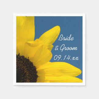 Gele Zonnebloem en het Blauwe Huwelijk van de Papieren Servet