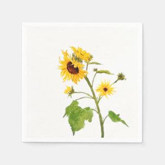 gele zonnebloem wegwerp servetten