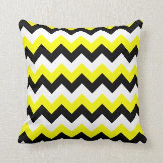 Gele Zwart-witte Zigzag Sierkussen