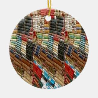 Gelezen de Bibliotheek van de Boekenwurm van Rond Keramisch Ornament
