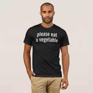 gelieve te eten een groente t shirt