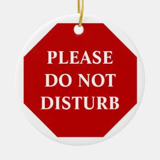 Gelieve te storen de geen Hanger van de Deur Rond Keramisch Ornament