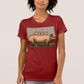 Gelieve veggie te gaan, grappige vegetarische t shirt