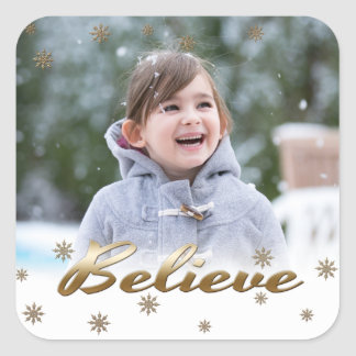 Geloof. De Stickers van de Foto van Kerstmis van