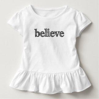 Geloof de T-shirt van de Ruche van de Peuter