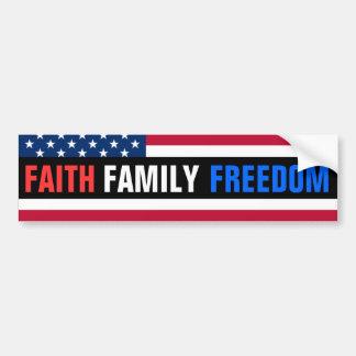 Geloof, Familie, Vrijheid Bumpersticker