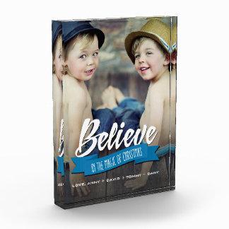 Geloof. Het Blok van de Foto van de Gift van