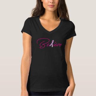 Geloof het Overhemd van de Voorlichting van Kanker T Shirt
