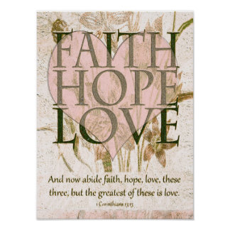 Geloof, Hoop en Liefde Poster