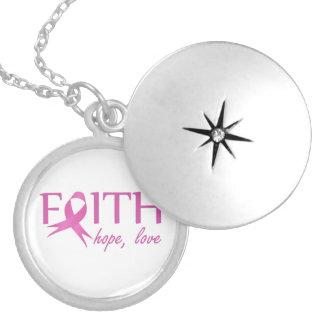 Geloof, hoop, liefde locket ketting