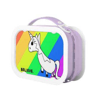 Geloof in de Doos van de Lunch van de Regenboog va Lunchbox