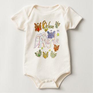 Geloof in Engelen de Inspirerend Kleding van de Baby Shirt