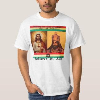 Geloof in het Overhemd van Jah Selassie T Shirt