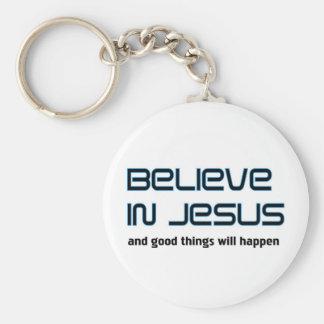 Geloof in het spreuk van Jesus Christian Sleutel Hangers