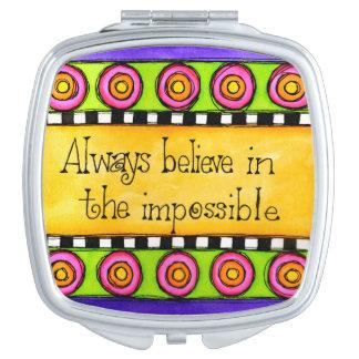 Geloof in Onmogelijk Makeup Spiegel
