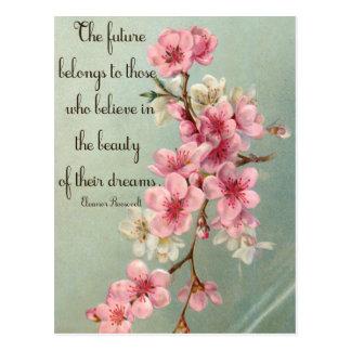 Geloof in uw Dromen het Briefkaart van Eleanor