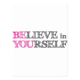 Geloof in zich - BENT U Briefkaart