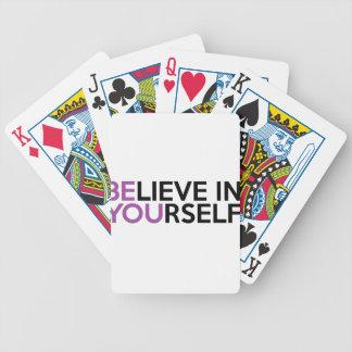 Geloof in zich - bent u pak kaarten