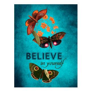 Geloof in zich briefkaart