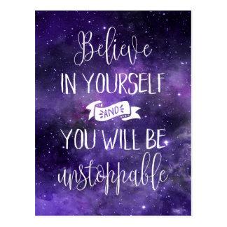 Geloof in zich Citaat Briefkaart