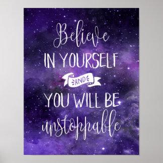 Geloof in zich Citaat Poster