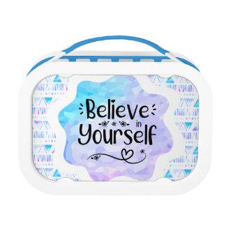 Geloof in zich lunchbox