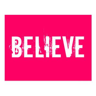 Geloof - inspireer, motiveer, doorboor briefkaart