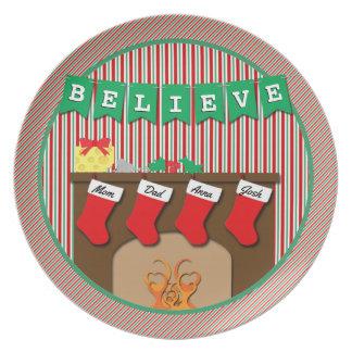 Geloof • Nacht vóór Kerstmis • 4 kousen Melamine+bord