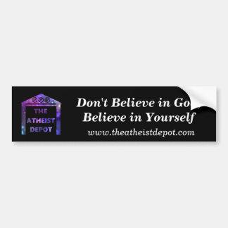 Geloof niet in de Sticker van de Bumper van de God