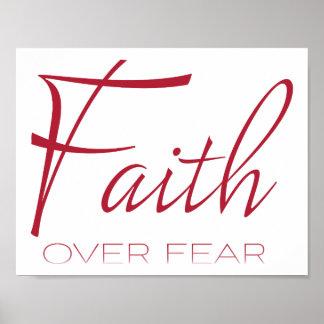 Geloof over de Aanmoediging van de Vrees in Rood Poster