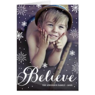 Geloof Sneeuwvlokken | Gevouwen Wenskaart van de