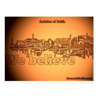 Geloofspunten Wordle Briefkaart
