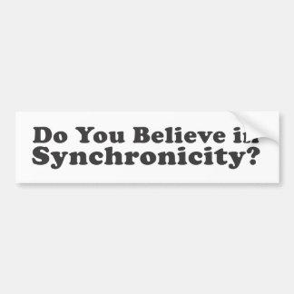 Gelooft u in Synchronicity? Bumpersticker