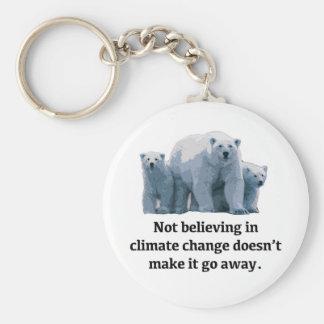 Gelovend niet in klimaatverandering sleutelhanger