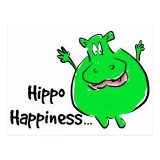 Geluk Hippo - briefkaart