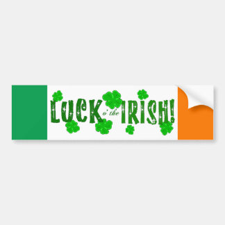 Geluk o de Ierse Sticker van Zeven Gelukkige Klave Bumpersticker